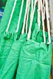 Green hammock Stock Photo