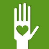 Green hand Stock Photo