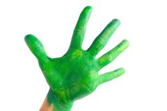 Green hand Royalty Free Stock Photo