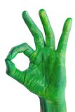 Green hand Royalty Free Stock Image