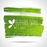 Green hand-drawn banner - eco background Royalty Free Stock Photography