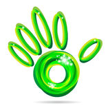 Green hand icon Stock Photos