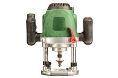 Green hand mill on white background. Isolated royalty free stock photos