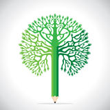 Green hand pencil Royalty Free Stock Images