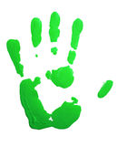 Green hand-print Royalty Free Stock Photos