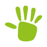 Green hand print  isolated icon design. Illustration  graphic Royalty Free Stock Image