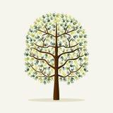 Green hand print tree environment illustration Royalty Free Stock Photography