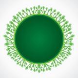 Green hand sticker. Stock vector Stock Photos