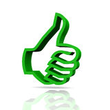 Green hand with thumb up Royalty Free Stock Photo