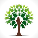 Green hand tree Stock Photo