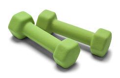 Green Hand Weights Stock Photography