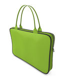 Green handbag with zipper Royalty Free Stock Photos