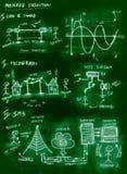 Green handmade diagram of changing communication through century stock photography