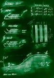 Green handmade diagram of testing procedure sledge royalty free stock image
