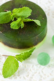 Green handmade soap Stock Photography