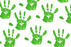 green Handprint Stock Image
