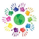 green hands den mänskliga världen Royaltyfria Bilder