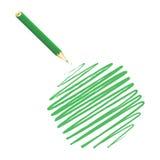 Green handwritten hexagon Royalty Free Stock Photography