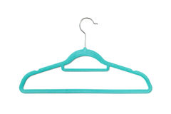 Green hanger isolated on white background. Royalty Free Stock Photography