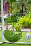 Green Hanging Chair in the garden Royalty Free Stock Images