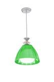 Green hanging lamp Stock Photo
