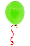 Green happy air flying balloon Royalty Free Stock Photography