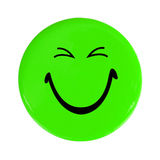 Green happy face button Royalty Free Stock Image