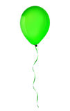 Green happy holiday air flying balloon isolated on white Royalty Free Stock Photo