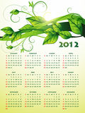 Green happy new year calender. Eco green happy new year calender design Royalty Free Stock Photo