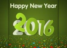 Green Happy New Year Card Royalty Free Stock Photo
