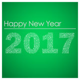 Green happy new year 2017 from little snowflakes eps10. Green happy new year 2017 from little snowflakes Royalty Free Stock Images