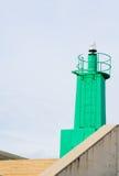 Green harbour beacon Stock Image