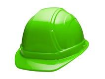Green Hard Hat Stock Photo