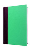 Green hardcover book front cover upright vertical isolated. On white Royalty Free Stock Images