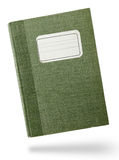 Green hardcover notebook Royalty Free Stock Image