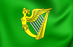 Green Harp Flag of Ireland Royalty Free Stock Photo