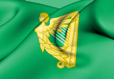Green Harp Flag of Ireland. Stock Image