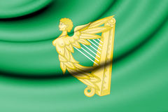 Green Harp Flag of Ireland. Stock Photo
