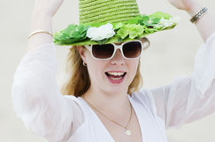 Green hat 1 Royalty Free Stock Photo