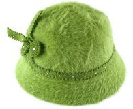 Green hat. A green hat for women Stock Images