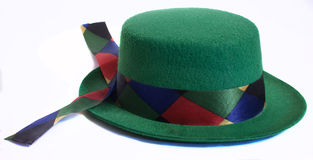 Green hat royalty free stock photography