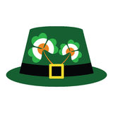 Green hat for St. Patrick's Day. With clover in colors of irish flag. Vector or jpg Royalty Free Stock Photo
