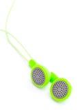 Green headphone Royalty Free Stock Photos