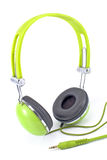 Green headphones Royalty Free Stock Photo