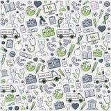 Green Health care pattern.Sticker. Stock Photos