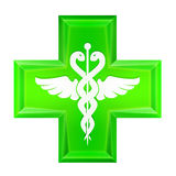 Green health cross icon isolated Stock Photography