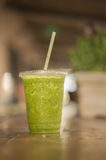 Green health drink smoothie fruit veg drink. Green health drink smoothie fruit vegetable drink Royalty Free Stock Images