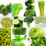 Green healthy food collage collection Royalty Free Stock Photo