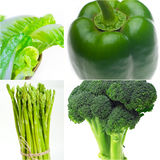 Green healthy food collage collection Stock Photo