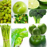Green healthy food collage collection Stock Image